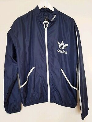 Adidas Retro Lightweight Shell Tracksuit Top Mens Size Medium