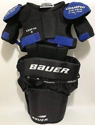 Champro Sports Air Tech Hockey Leg & Shoulder Pads Mens Small Vintage WHL Bauer