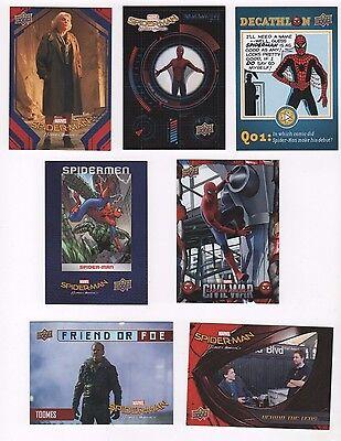 2017 Spider-man Homecoming master set of 167 cards base + 6 insert sets
