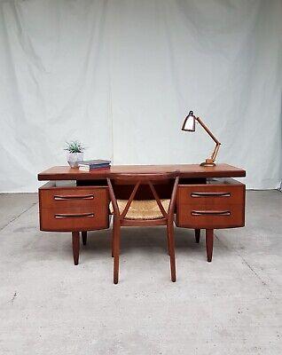 Vtg Mid Century G Plan Floating Teak Desk Dressing Table Danish Design #723