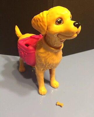 Mattel Barbie Dog Potty Trainer Poop Pup Taffy Golden Retriever Lab Eats 1 Bone