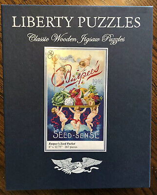 Liberty Wooden Jigsaw Puzzle Burpee's Seed Packet