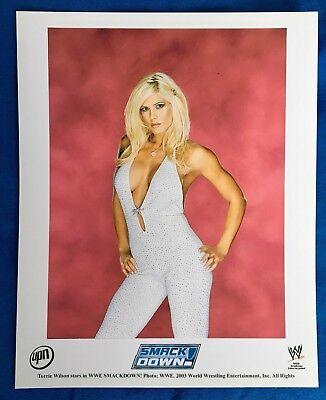 WWE Smackdown on UPN 8x10 Glossy Promo Photo - Torrie Wilson 2003 (studio white)