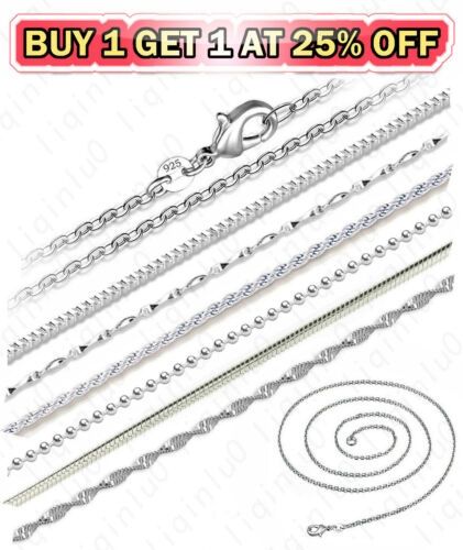 Jewellery - 925 Sterling Silver Diamond Cut Rope Snake Rolo Link Chain Necklace 16-24 inch