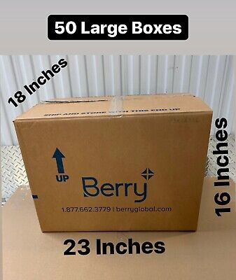 50 Large Cardboard Box - Gently Used Storage Moving Packing Local Deli