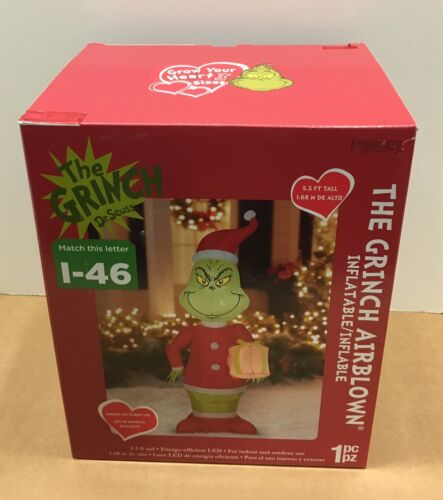 GEMMY GRINCH CHRISTMAS AIRBLOWN INFLATABLE BLOW UP LED YARD DECOR