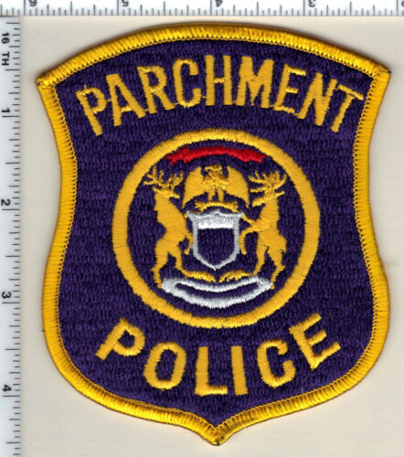 Parchment Police (Michigan)  Shoulder Patch  - new from 1991