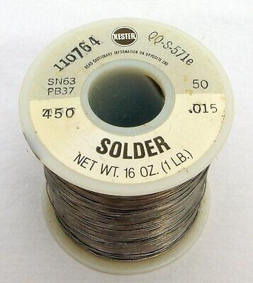 Kester 450 Water Soluable Flux Core Solder Wire Spool .015