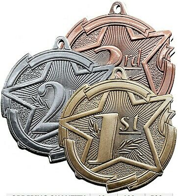 Lot of 3 Medals. 1st, 2nd, 3rd Place. Custom Engraved. - First Place Medal