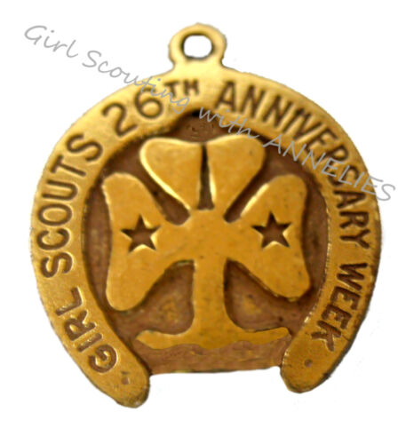 26th Anniversary Horseshoe CHARM, Girl Scout Week Free-Birthday COLLECTOR GIFT