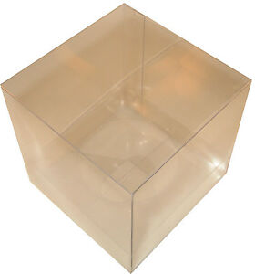 25 Large Clear PVC Single Cupcake Boxes with Inserts Wedding & Party Favours