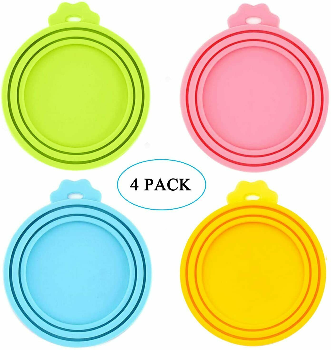 IVIA PET Food Can Lids, Universal BPA Free Silicone Can Lids Covers for Dog and