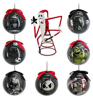 Nightmare Before Christmas Jack Skellington Tree Topper 7 Baubles Ornament Set