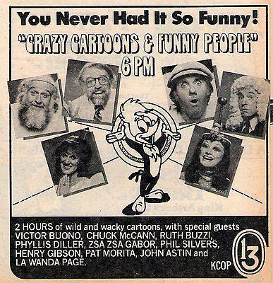 1979 tv ad~CHUCK McCANN~RUTH BUZZI~JOHN ASTIN~VICTOR BUONO~PHYLLIS DILLER