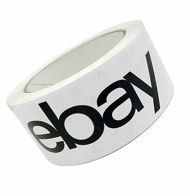 Ebay Branded Bopp Packaging Tape Black- 75 Yard Roll - Shipping Supplies