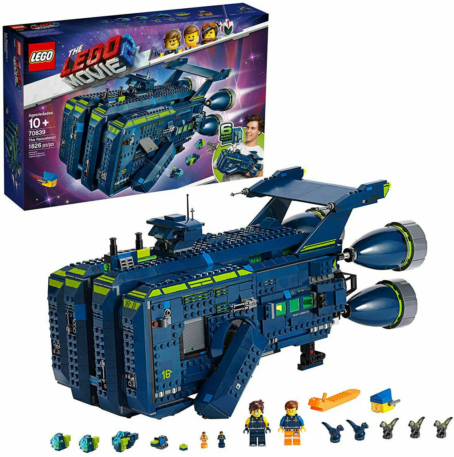 THE LEGO MOVIE 2 The Rexcelsior! 70839 Kid Toy Gift - New in
