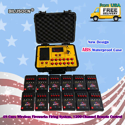 Bilusocn 300M distance+48 Cues Fireworks Firing System remote Control Equipment  for sale  Red Lion