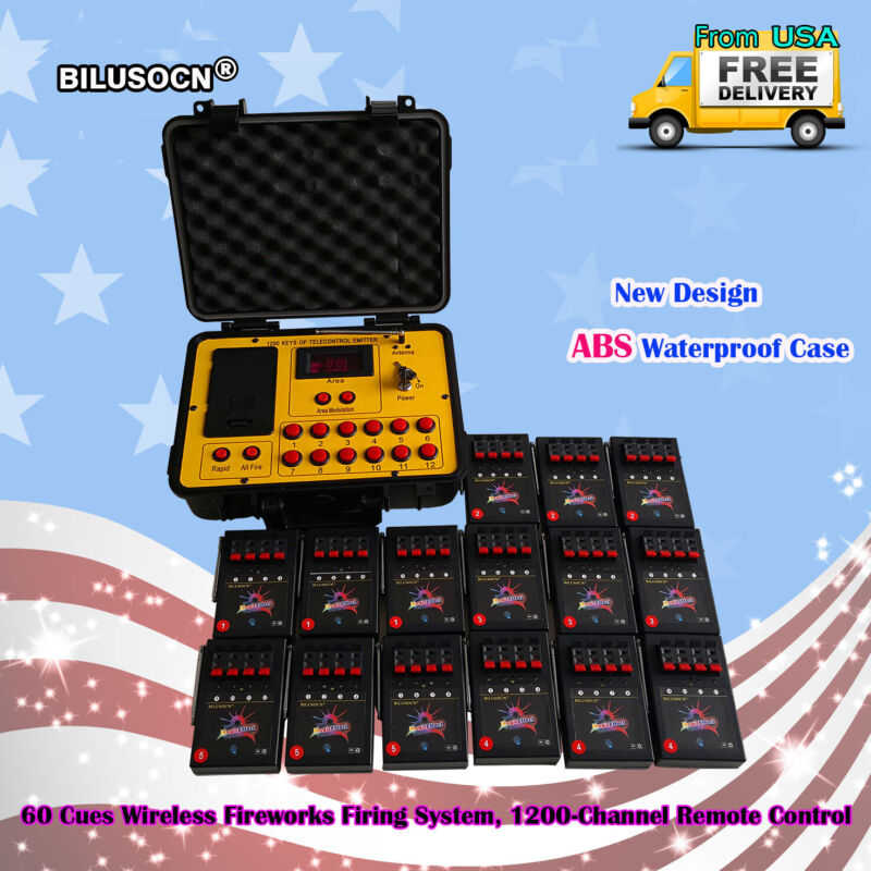 60 Cues fireworks firing system Wireless Control 500M distance program