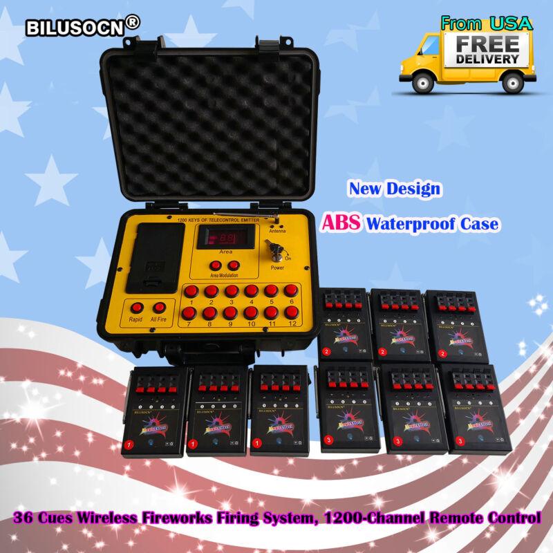 Bilusocn 300M distance+36 Cues Fireworks Firing System remote Control Equipment