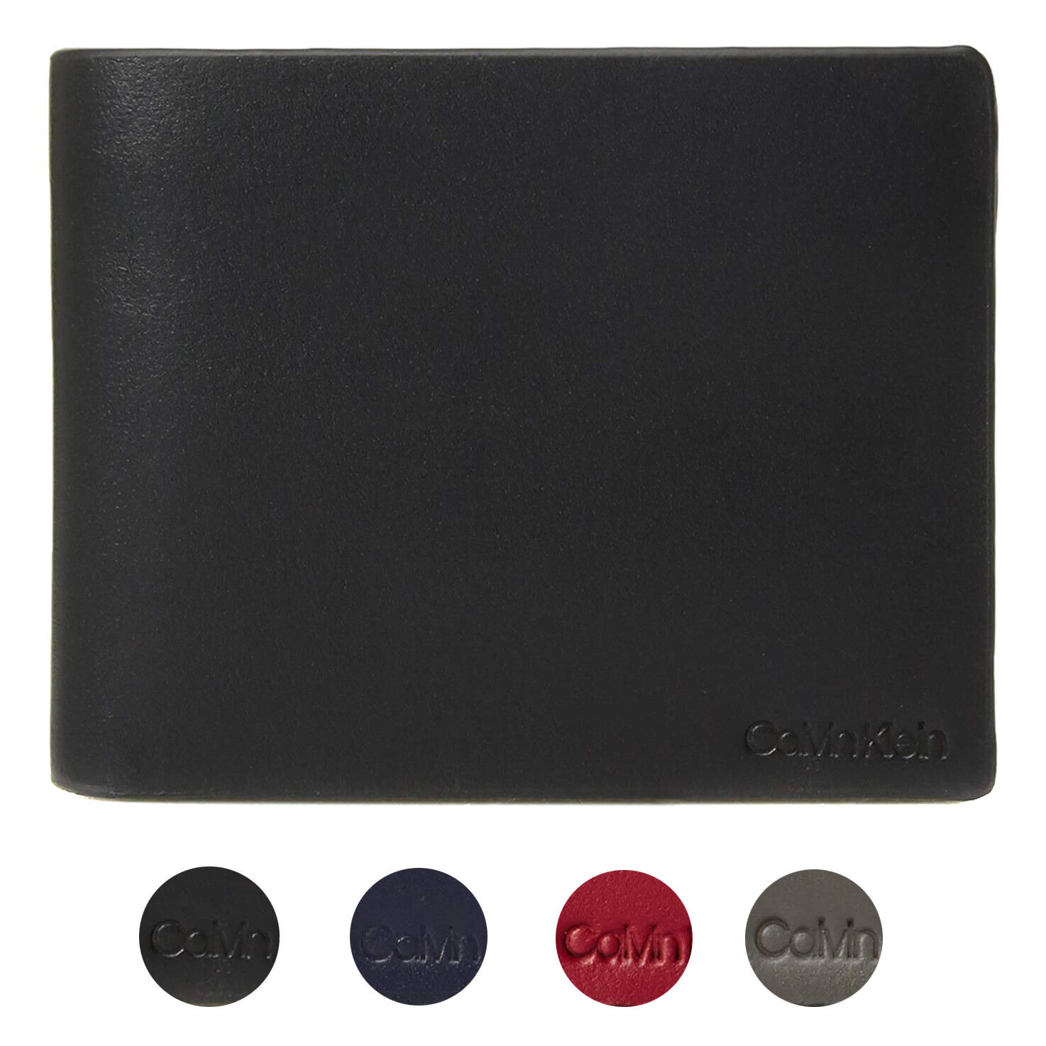 Calvin Klein CK Men's Genuine Leather ID Window Bifold Wallet 79813