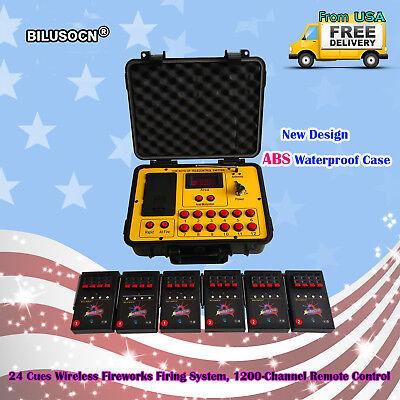 - Bilusocn 300M distance+24 Cues Fireworks Firing System remote Control Equipment