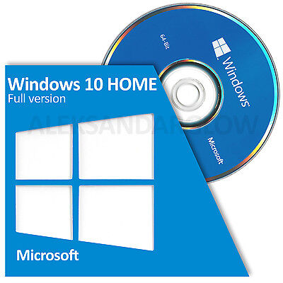Microsoft Windows 10 HOME 64 Bit System Builder FULL VERSION BRAND NEW SEALED