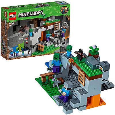 LEGO Minecraft 21141 - Zombiehöhle Minifigur Steve Zombie Fledermaus 241 Teile
