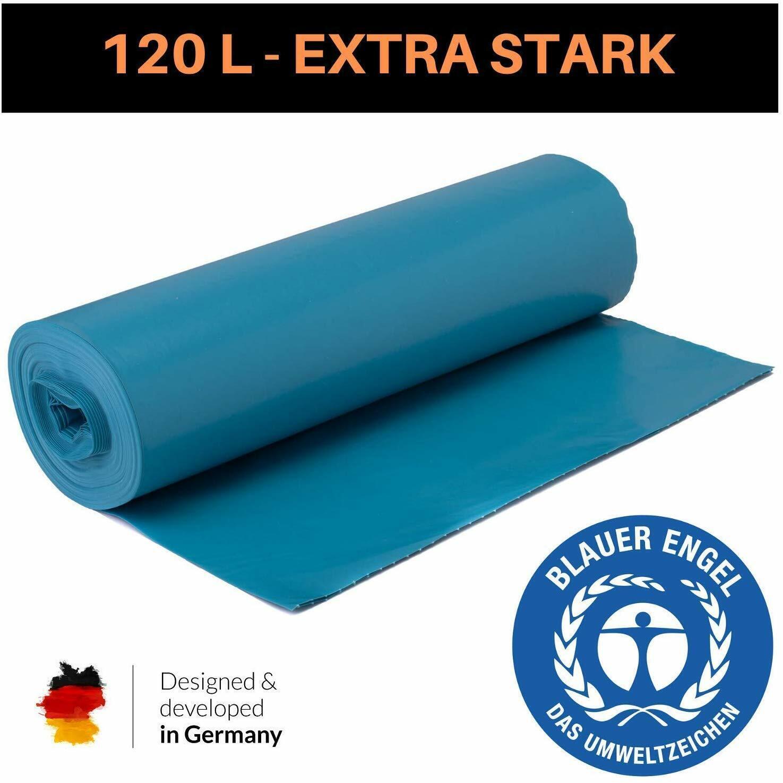 Müllsäcke Müllbeutel extra stark reißfest 120 L 700 x 1100 Typ 100 blau schwarz