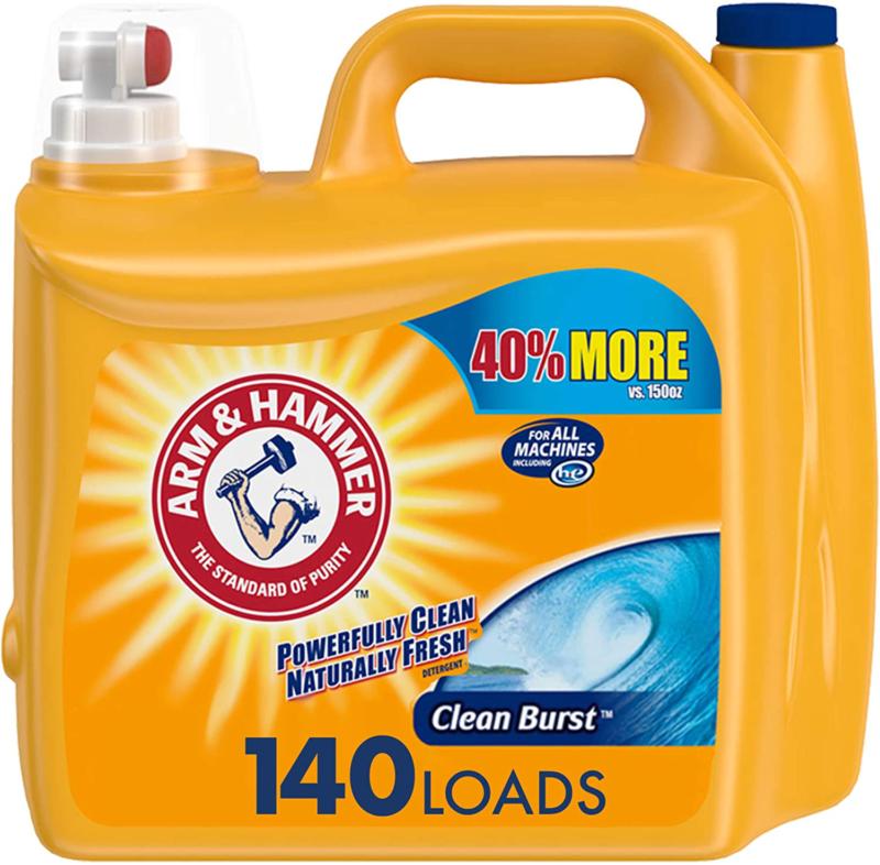 Arm & Hammer Clean Burst, Liquid Laundry Detergent, 140 Load
