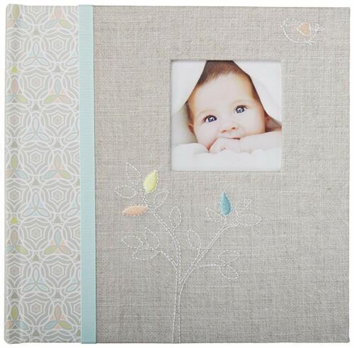 C.R. Gibson Baby Photo Album~Linen Tree~ Slim Bound Photo Unisex