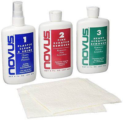 Clear Plastic Restoration Kit - Plastic Restorer Clean Polish Kit Scratch Remover Protect Car Auto Shine Care US