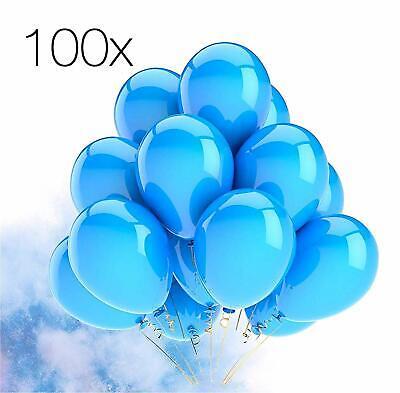 100x Luftballons Ballons blau Luft, Helium Latexballons Hochzeit Deko Dekoration ()