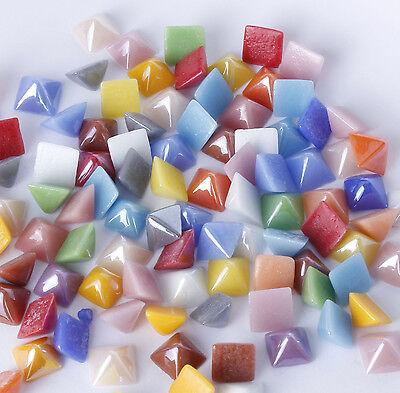 100x 8mm mixed ceramic pyramids