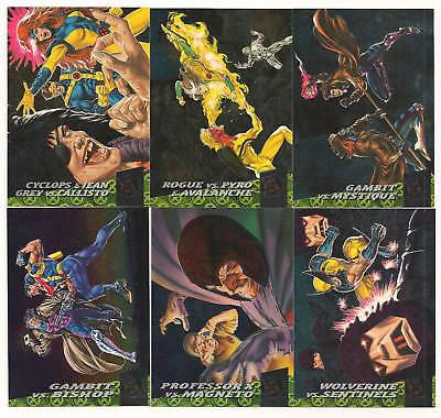 1994 X-Men Fleer Ultra  Greatest Battles Complete insert Set ( 6 cards)
