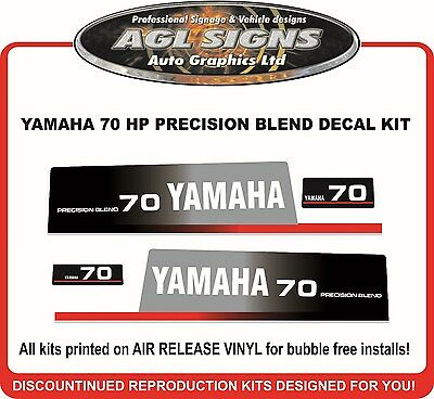 YAMAHA 70 HP Precision Blend Outboard Decal Kit , reproductions