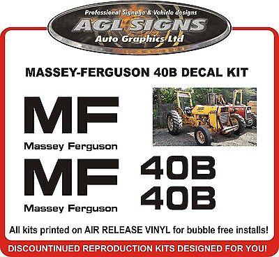 Massey Ferguson 40b Replacement Tractor Decal Set Mf 40b
