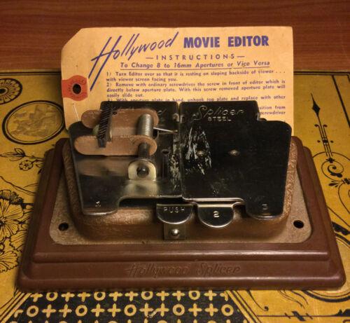 Vintage Hollywood Movie Editor Film Splicer 8mm.16mm Stainless Steel - $14.95