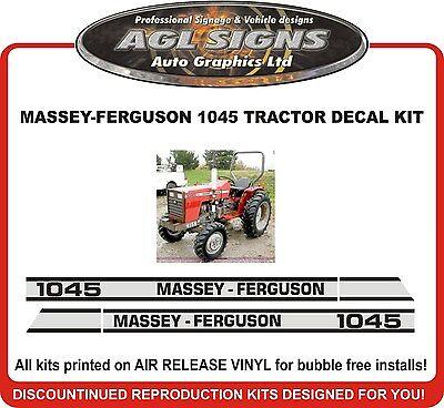 Massey-ferguson 1045 Tractor Decal Set Reprocduction  Massey Ferguson