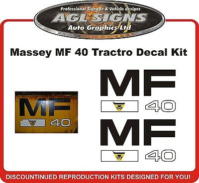 Massey Ferguson 40 Tractor Decal Set Reproduction Mf 40