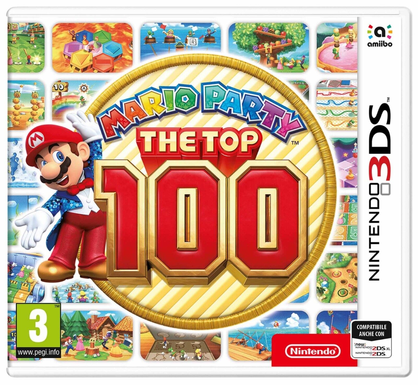 VIDEOGIOCO NINTENDO 3DS MARIO PARTY THE TOP 100 GIOCO ITALIANO PAL 2DS