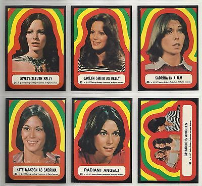 """1977 Charlie's Angels: Series 4 """"Complete Set"""" of 11 STICKERS (34-44)"""