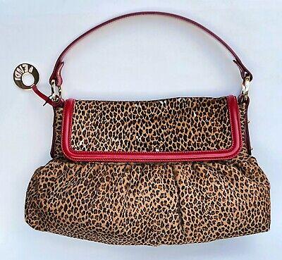 Fendi Borsa Chef Purse Calf Skin w Leopard Print Shoulder Bag 885620