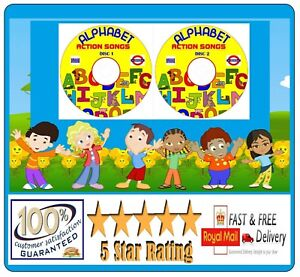 Alphabet Songs Learn By Music & Songs The Alphabet ABC 2 CDs Children's  ✅