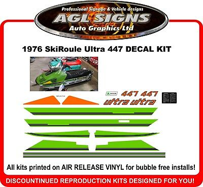 1976 Skiroule Ultra 447 Reproduction Decal Kit