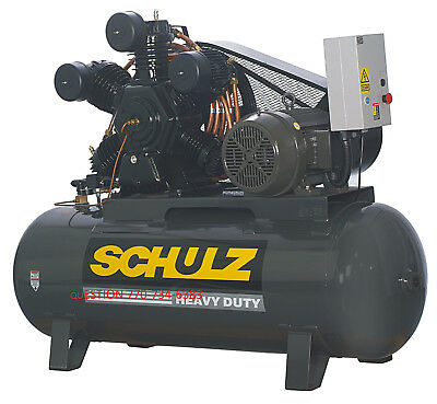 Schulz Air Compressor 20hp 80 Cfm 175 Psi 120 Gallon- New