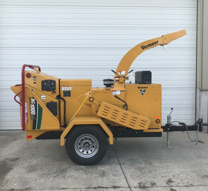 """New 2019 Vermeer BC1000 12"""" Wood Chipper With Auto Smart Feed"""