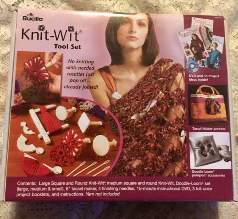 NEW BUCILLA KNIT-WIT TOOL SET NO KNITTING SKILLS NEEDED