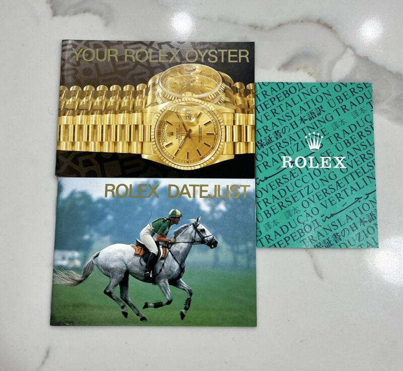 Authentic Vintage Rolex Datejust President Your Oyster 90s  Booklet Manual Set