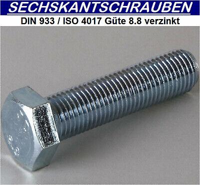 8.8 verzinkt     M10x60 Sechskantschrauben DIN933 100 ST ISO4017