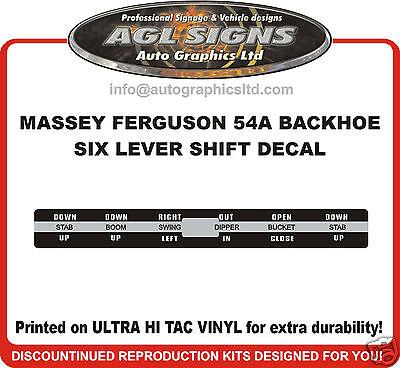 Massey Ferguson 54a Backhoe Shift Lever Decal Reprocduction